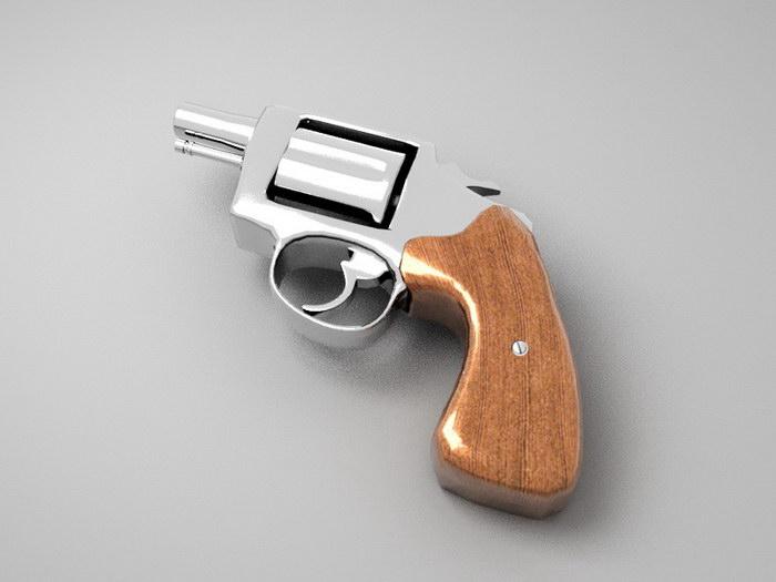 Magnum Revolver 3d rendering