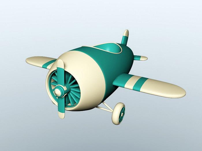Cute Cartoon Plane 3d rendering