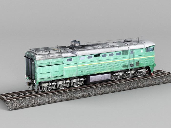 Diesel Locomotive 3d rendering