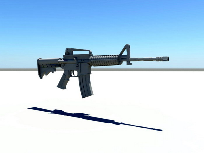 USMC M4 Carbine 3d rendering