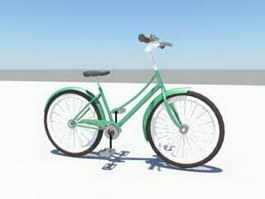Beach Cruiser Bicycle 3d preview