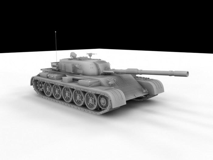 Main Battle Tank Render 3d rendering