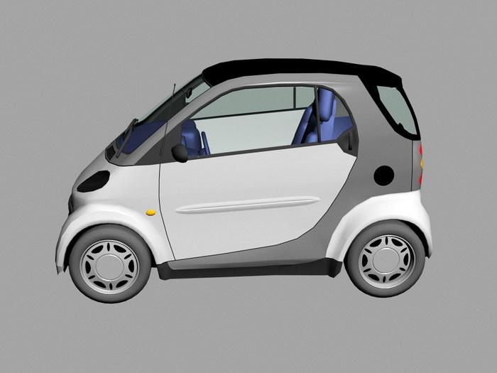 Electric Smart Car 3d rendering