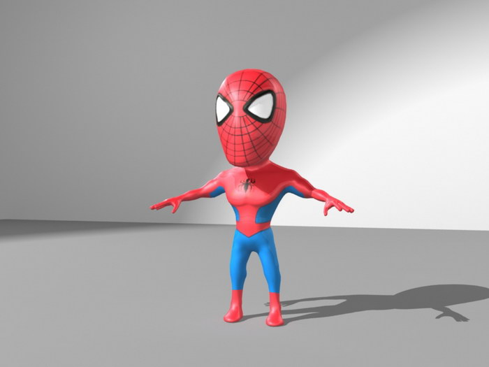 Spider-Man Character 3d rendering