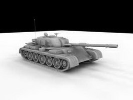 Main Battle Tank Render 3d preview