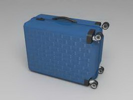 Blue Suitcase 3d preview