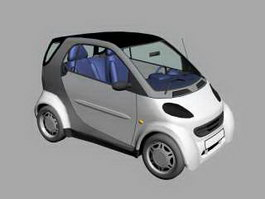 Electric Smart Car 3d preview