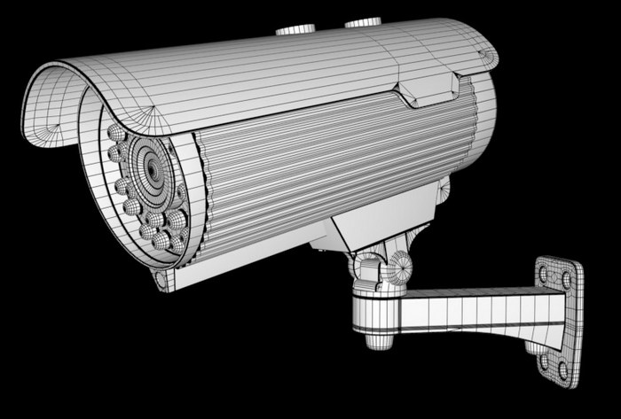 Infrared CCTV Camera 3d rendering