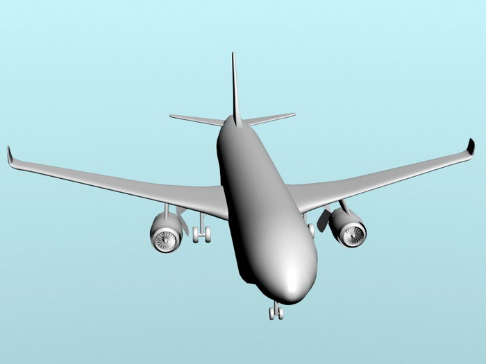 China C919 Jet Airliner 3d rendering