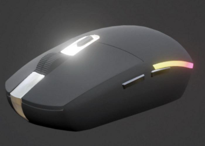 Logitech Wireless Mouse 3d rendering