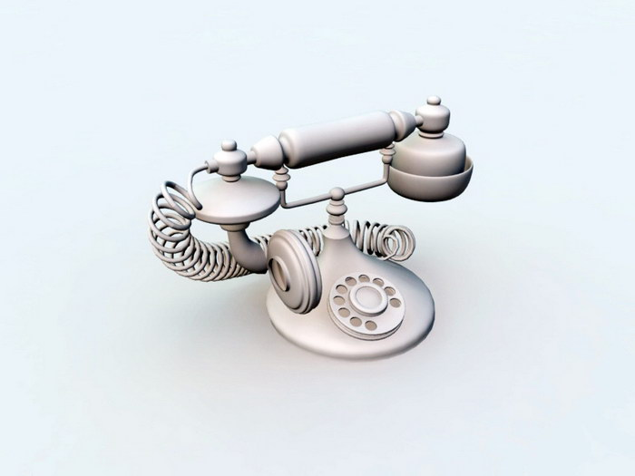 Antique Telephone 3d rendering