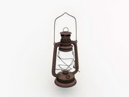 Old Kerosene Lantern 3d preview