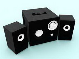 Desktop Speakers 3d preview