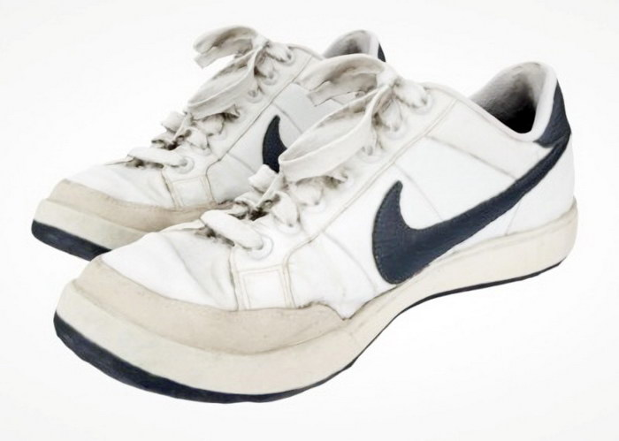 White Nike Shoes 3d rendering