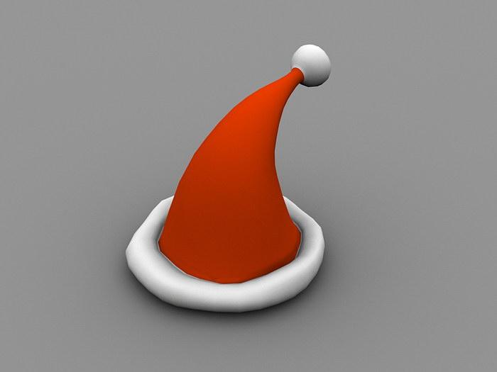 Christmas Hat 3d rendering
