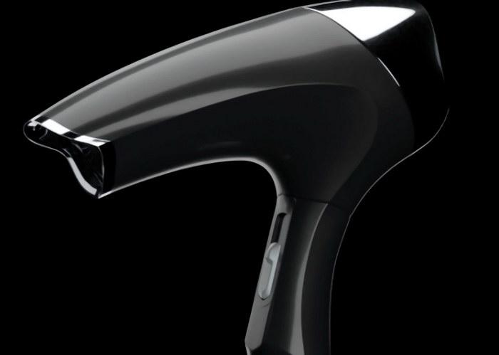 Black Hair Dryer 3d rendering