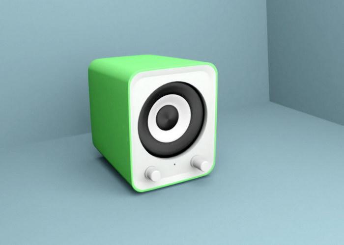 Small Speaker 3d rendering