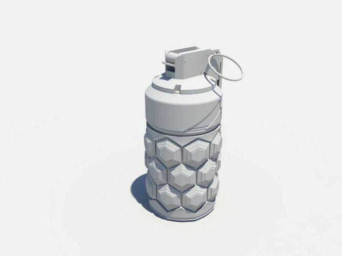 Sci-Fi Grenade 3d rendering