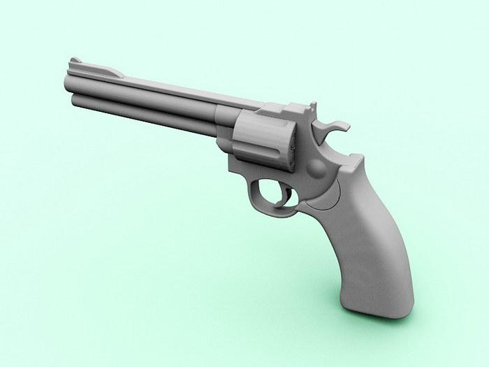Revolver Pistol 3d rendering