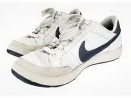 White Nike Shoes 3d preview
