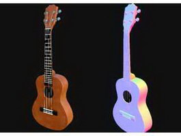 Ukulele Lute Instrument 3d preview
