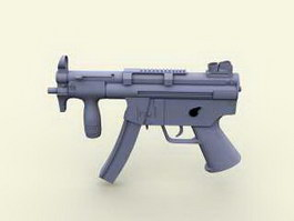MP5 Auto Submachine Gun 3d preview