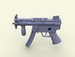 MP5 Auto Submachine Gun 3d model preview