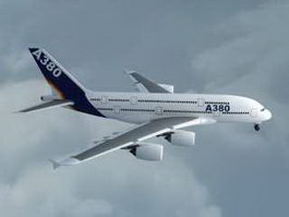 Airbus A380 Passenger Airliner 3d preview