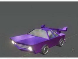 Purple Cartoon Car 3d preview