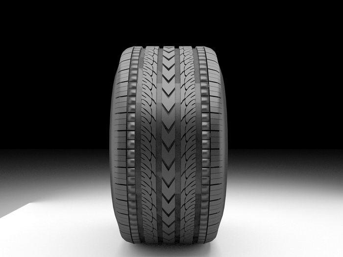 Kia Tire 3d rendering