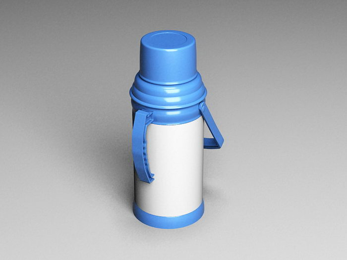 Water Thermos Bottle 3d rendering
