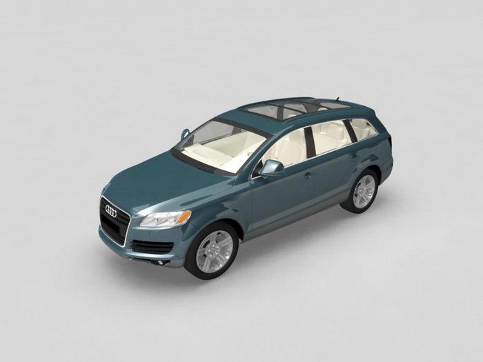 Audi Q7 Quattro 3d rendering