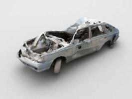 Old Wrecked Car 3d preview