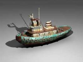 Rusty Tugboat 3d preview