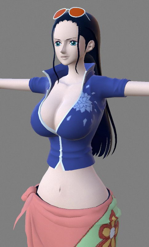 Nico Robin One Piece Anime Girl 3d rendering