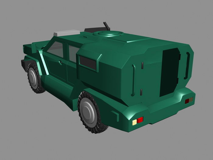 Armored Jeep 3d rendering