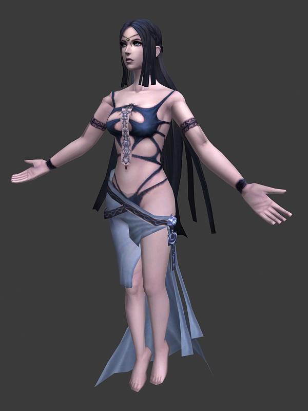 Dark Goddess Shaiya Raina 3d rendering