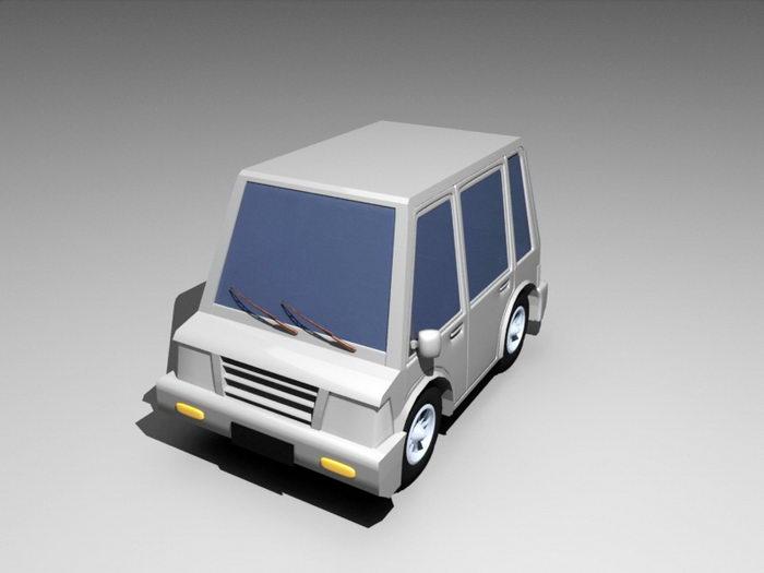 Classic Car Cartoon 3d rendering