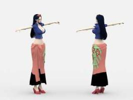 Nico Robin One Piece Anime Girl 3d model preview