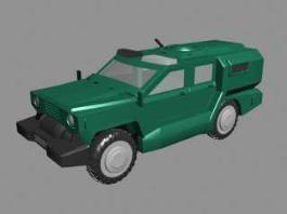Armored Jeep 3d model preview