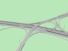 Highway Interchange 3d preview