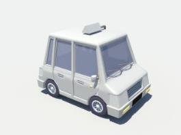 Cartoon Taxicab 3d preview