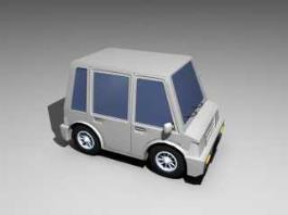 Classic Car Cartoon 3d preview