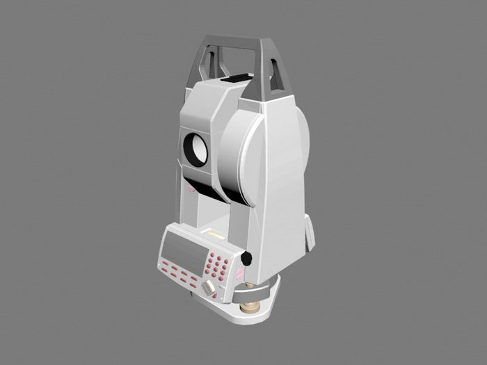Electronic Total Station 3d rendering