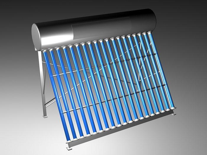 Solar Hot Water Heater 3d rendering