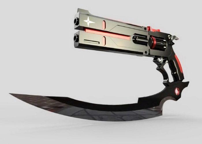 Cyberpunk Pistol 3d rendering