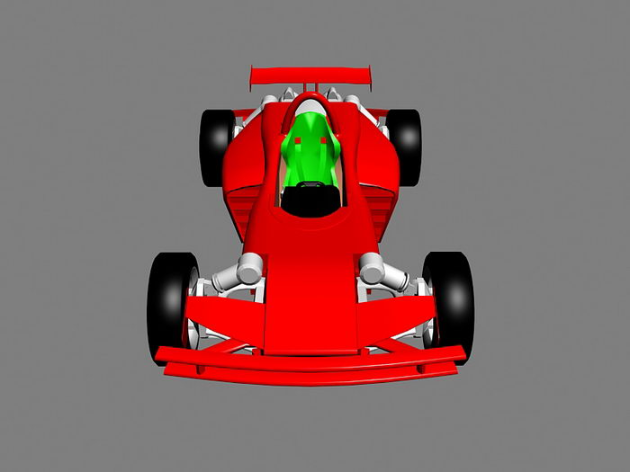 Red F1 Car 3d rendering