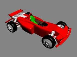 Red F1 Car 3d preview