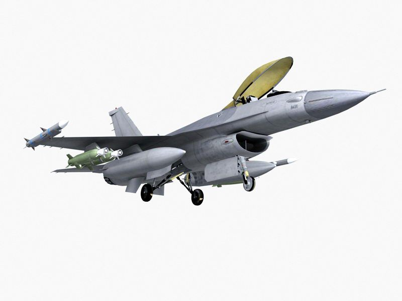 Military Fighter Jet 3d rendering