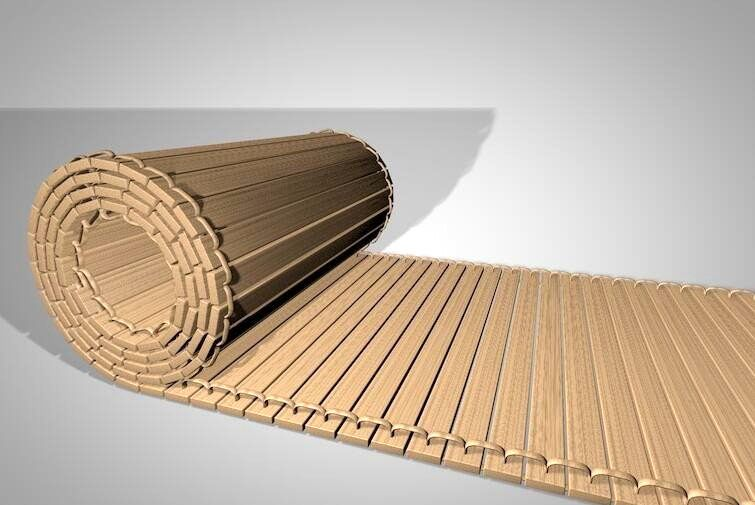 Ancient Chinese Bamboo Strips 3d rendering